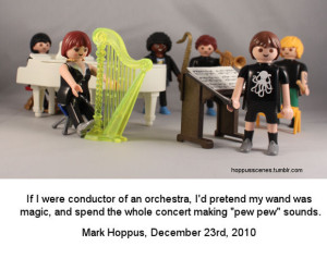 That's not how you play a harp!